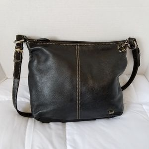 The Sak Black Medium Leather Shoulder Bag